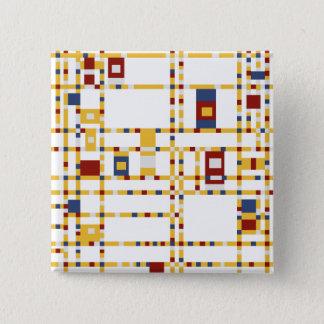 Bóton Quadrado 5.08cm Botão quadrado de 2 polegadas