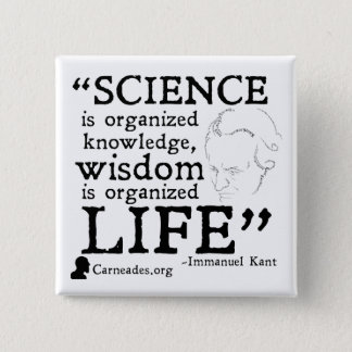 Bóton Quadrado 5.08cm Botão quadrado de Immanuel Kant