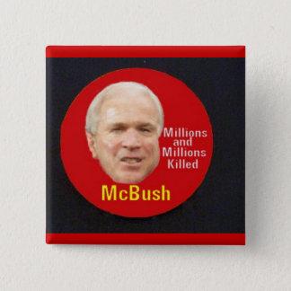Bóton Quadrado 5.08cm Botão quadrado de McBush