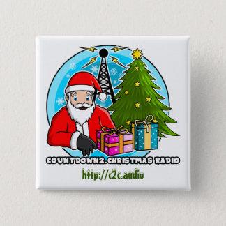 Bóton Quadrado 5.08cm Botão quadrado de rádio de Countdown2.Christmas