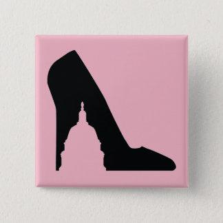 Bóton Quadrado 5.08cm Botão quadrado de SGP (rosa)