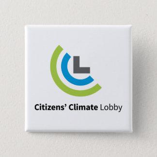 Bóton Quadrado 5.08cm Botão quadrado do logotipo de CCL