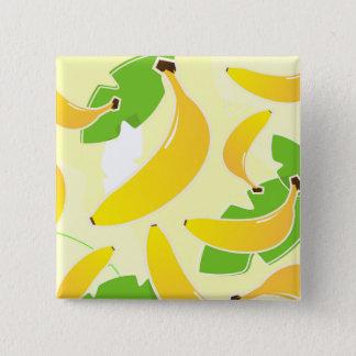Bóton Quadrado 5.08cm Botão quadrado dos desenhistas com banana