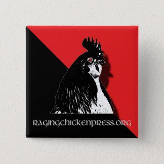 Bóton Quadrado 5.08cm Botão Raging da imprensa da galinha