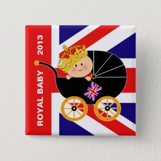 Bóton Quadrado 5.08cm Botão real britânico do bebê