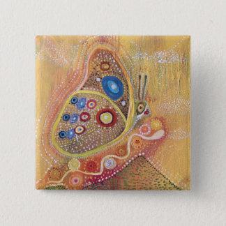 Bóton Quadrado 5.08cm Botão redondo de Mariposa do abstrato da arte da