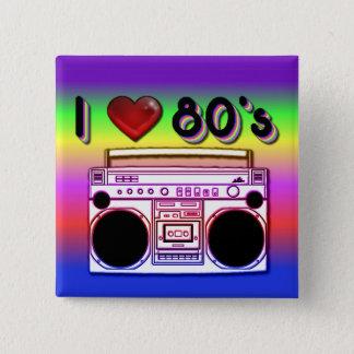 Bóton Quadrado 5.08cm Botão retro do anos 80 do quadrado do anos 80 de