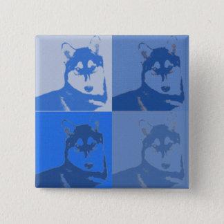 Bóton Quadrado 5.08cm Botão ronco azul