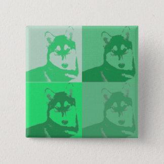 Bóton Quadrado 5.08cm Botão ronco verde