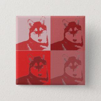 Bóton Quadrado 5.08cm Botão ronco vermelho
