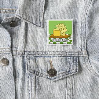 Bóton Quadrado 5.08cm Botão suíço engraçado dos desenhos animados do