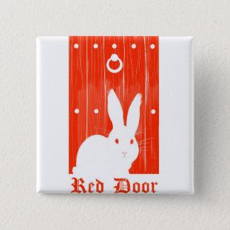 Bóton Quadrado 5.08cm Botão vermelho do coelho da porta
