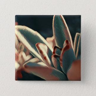 Bóton Quadrado 5.08cm Botão vermelho e verde do Succulent