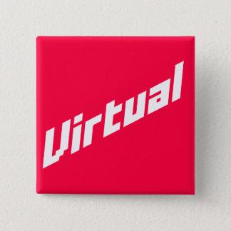 Bóton Quadrado 5.08cm Botão virtual do logotipo de |