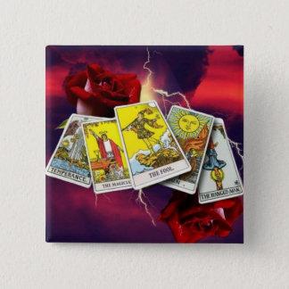 Bóton Quadrado 5.08cm Botões do cartão de Tarot