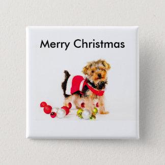 Bóton Quadrado 5.08cm Botões do Feliz Natal de York