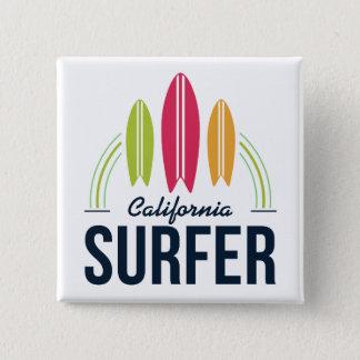 Bóton Quadrado 5.08cm Botões feitos sob encomenda do surfista do lugar