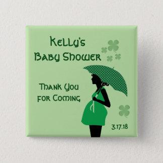 Bóton Quadrado 5.08cm Botões irlandeses da colisão do bebê do tema