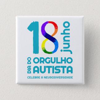 Bóton Quadrado 5.08cm Bóton Quadrado Orgulho Autista