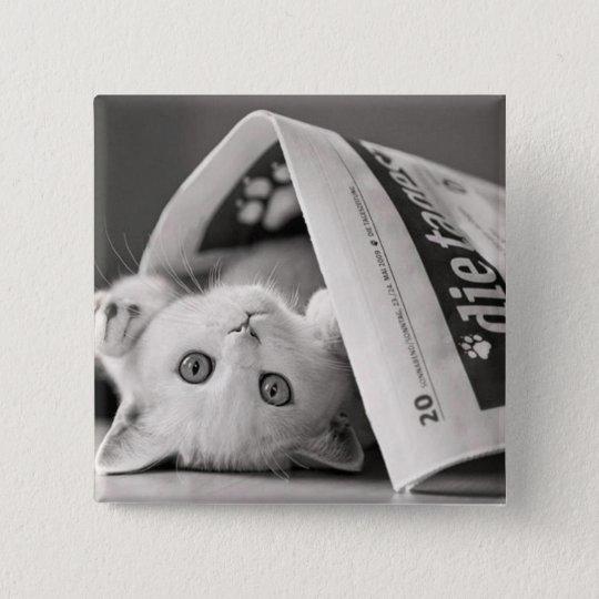 Bóton Quadrado 5.08cm Botton Cat