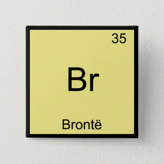 Bóton Quadrado 5.08cm Br - t-shirt engraçado do símbolo do elemento da