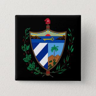 Bóton Quadrado 5.08cm brasão de Cuba