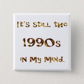 Bóton Quadrado 5.08cm brilho do ouro da nostalgia dos anos 90