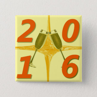 Bóton Quadrado 5.08cm Brinde do ano novo 2016