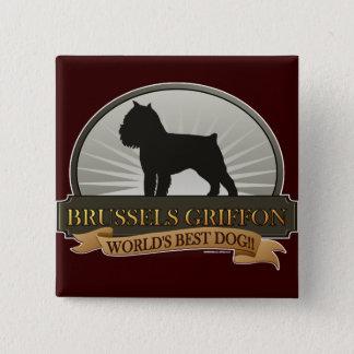 Bóton Quadrado 5.08cm Bruxelas Griffon