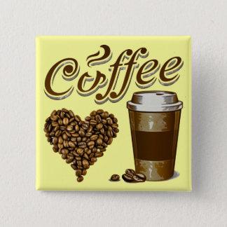 Bóton Quadrado 5.08cm Café