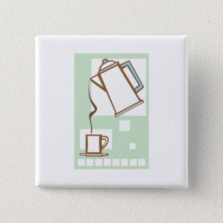 Bóton Quadrado 5.08cm Café e caneca