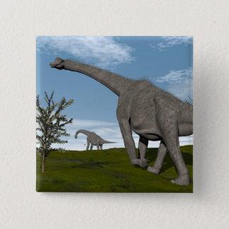 Bóton Quadrado 5.08cm Caminhada dos dinossauros do Brachiosaurus - 3D