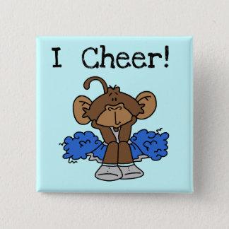 Bóton Quadrado 5.08cm Camiseta do cheerleader do macaco e presentes