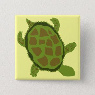 Bóton Quadrado 5.08cm Camiseta e presentes da tartaruga verde