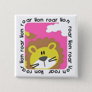 Bóton Quadrado 5.08cm Camiseta e presentes do rugido do leão