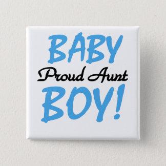 Bóton Quadrado 5.08cm Camiseta e presentes orgulhosos da tia bebé