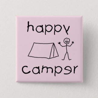 Bóton Quadrado 5.08cm Campista feliz (preto)