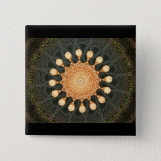 Bóton Quadrado 5.08cm Candelabro do pesar no botão de Oman