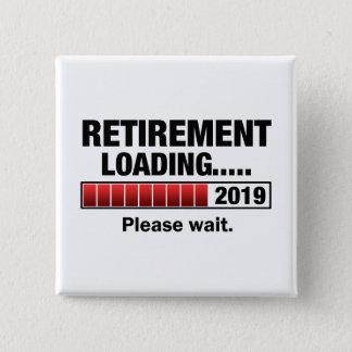 Bóton Quadrado 5.08cm Carga 2019 da aposentadoria