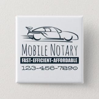 Bóton Quadrado 5.08cm Carro rápido do notário móvel com número de