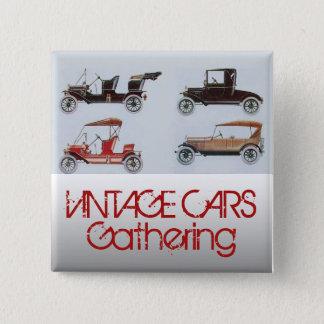 Bóton Quadrado 5.08cm Carros vintage que recolhem o automóvel clássico