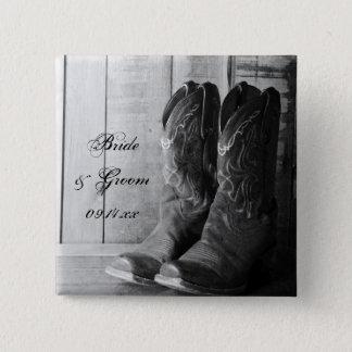 Bóton Quadrado 5.08cm Casamento ocidental rústico das botas de vaqueiro