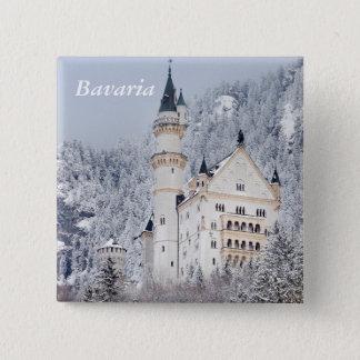 Bóton Quadrado 5.08cm Castelo de Neuschwanstein