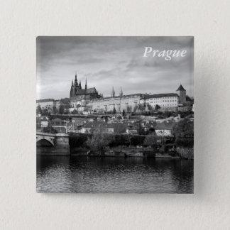 Bóton Quadrado 5.08cm Castelo de Praga
