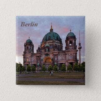 Bóton Quadrado 5.08cm Catedral de Berlim com torre e Lustgar da