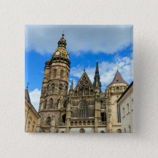 Bóton Quadrado 5.08cm Catedral do St. Elisabeth em Kosice, Slovakia
