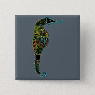 Bóton Quadrado 5.08cm Cavalo marinho de néon