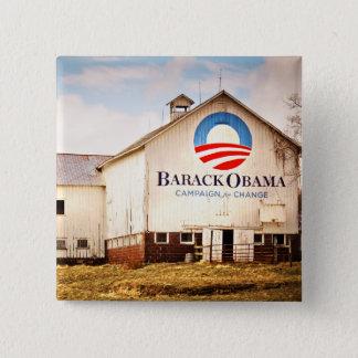 Bóton Quadrado 5.08cm Celeiro da campanha presidencial de Barack Obama