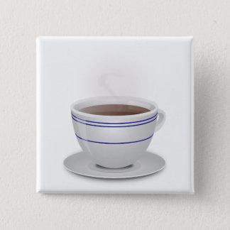 Bóton Quadrado 5.08cm Chávena de café