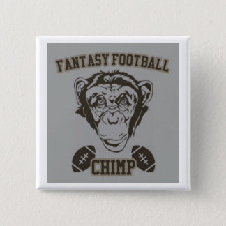 Bóton Quadrado 5.08cm Chimpanzé do futebol da fantasia